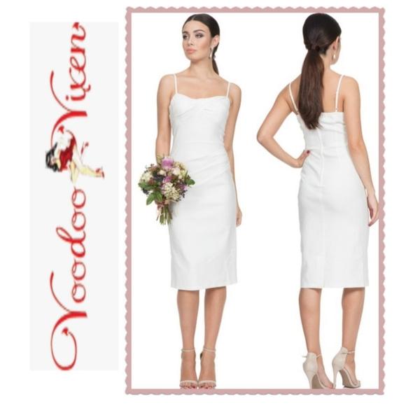 Voodoo Vixen Dresses & Skirts - Voodoo Vixen White Davina 50s Wedding Dress